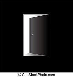 Open door - Illustration