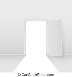 Open door. Illustration on white background for creative ...