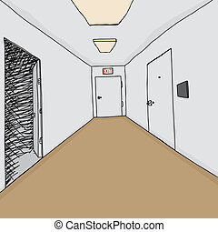 Open Door in Hallway