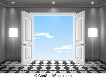 Open door in the sky