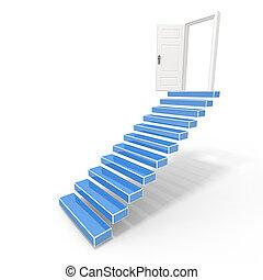 Open door into the success