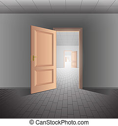 Open door leads to a bright future