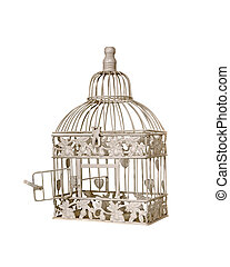 birdcage - open door on vintage birdcage