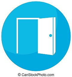 Open Door Opportunity Icon - An image of a opportunity open...