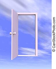Open Door - 3D rendered Illustration.