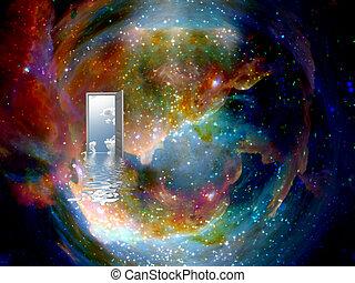 open door to another world