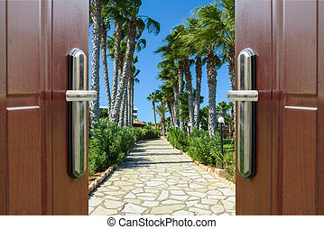 Open door to the sky
