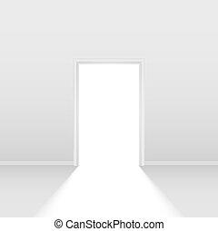 Open door. Illustration on white background for design