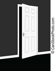 Open Door within a room