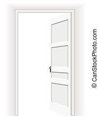Open door - Vector Illustration