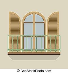 Open Door With Balcony.