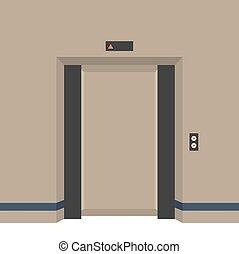 Open Doors Elevator.
