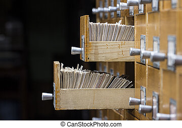 open doos, twee, archief