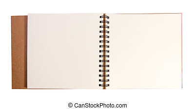 Open drawing book with clipping path with clipping path