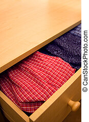 Open dresser - open drawer showing boxer shorts