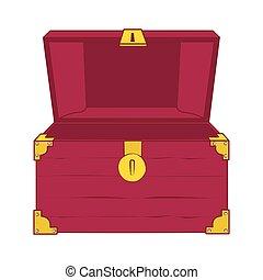 Open empty treasure chest.