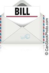 open envelope bill