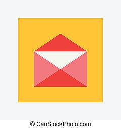 open envelope icon
