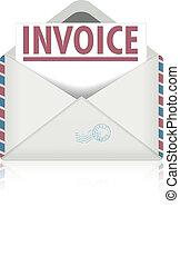open envelope invoice