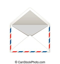Open envelope mail flat icon