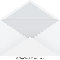 Open envelope - Vector illustration of a white isolated open...