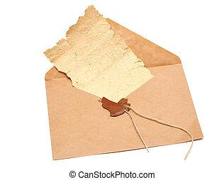 open envelope with a broken seal