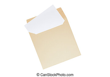 Open envelope with blank letter inside