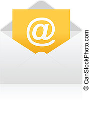 Open envelope with e-mail sign