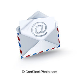 e-mail  - open envelope with e-mail symbol