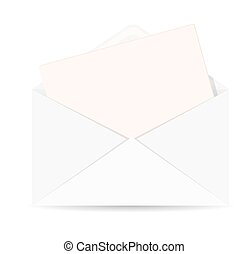 Open envelope with letter vector ic