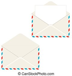 Open envelope with letter. Vector i