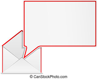 Open envelope with speech bubble