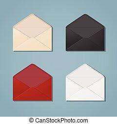 Open envelopes