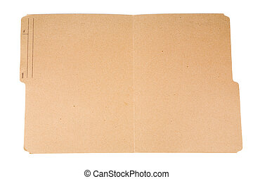 open file folder - an open file folder with white background