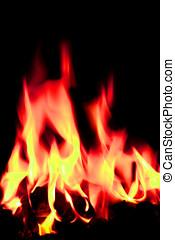 open fire flames