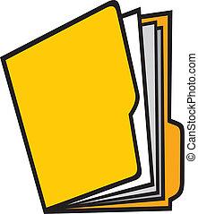 open folder (manila folder, folders with paper)