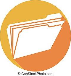 open folder flat icon