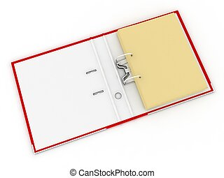 Open folder for documents