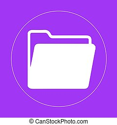 Open folder icon. Vector illustration