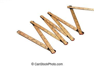 Open folding ruler