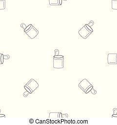 Open food can pattern seamless vector