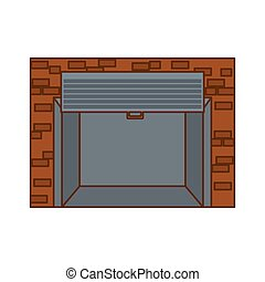 open garage door icon image