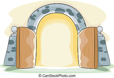 Open Gate - Illustration of a Gate Wide Open