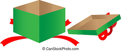Open gift box vector clipart illustrations 6665 open gift box open gift box gift box negle Image collections