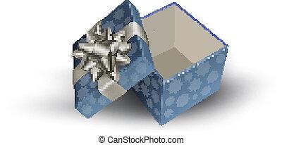 Open gift box. Vector illustration.