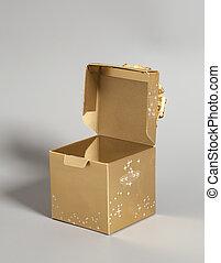 Open Golden gift box