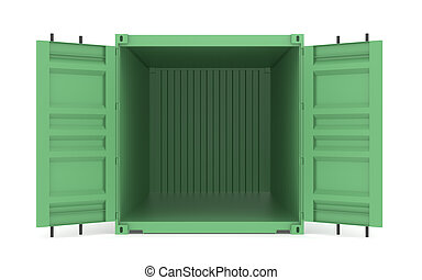 Open Green Container. Part of Warehouse and Logistics Series