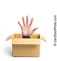 Open hand out of box