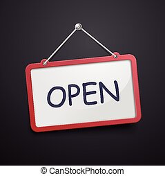 open hanging sign