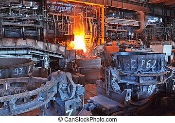 Open-hearth workshop of metallurgical plant
